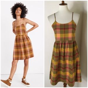 NEW Madewell plaid babydoll dress